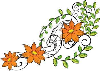 350x248 Vine Clipart Beautiful Flower