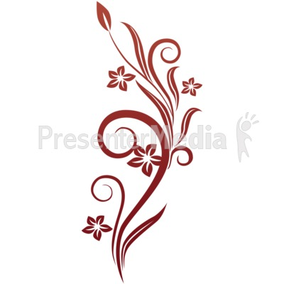 400x400 Vines Swirl Red Flowers