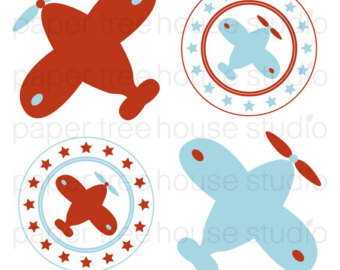 340x270 Airplane Clipart Etsy