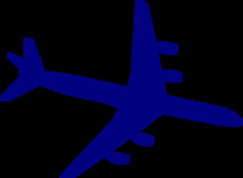 500x367 8328 Vintage Airplane Silhouette Clip Art Public Domain Vectors