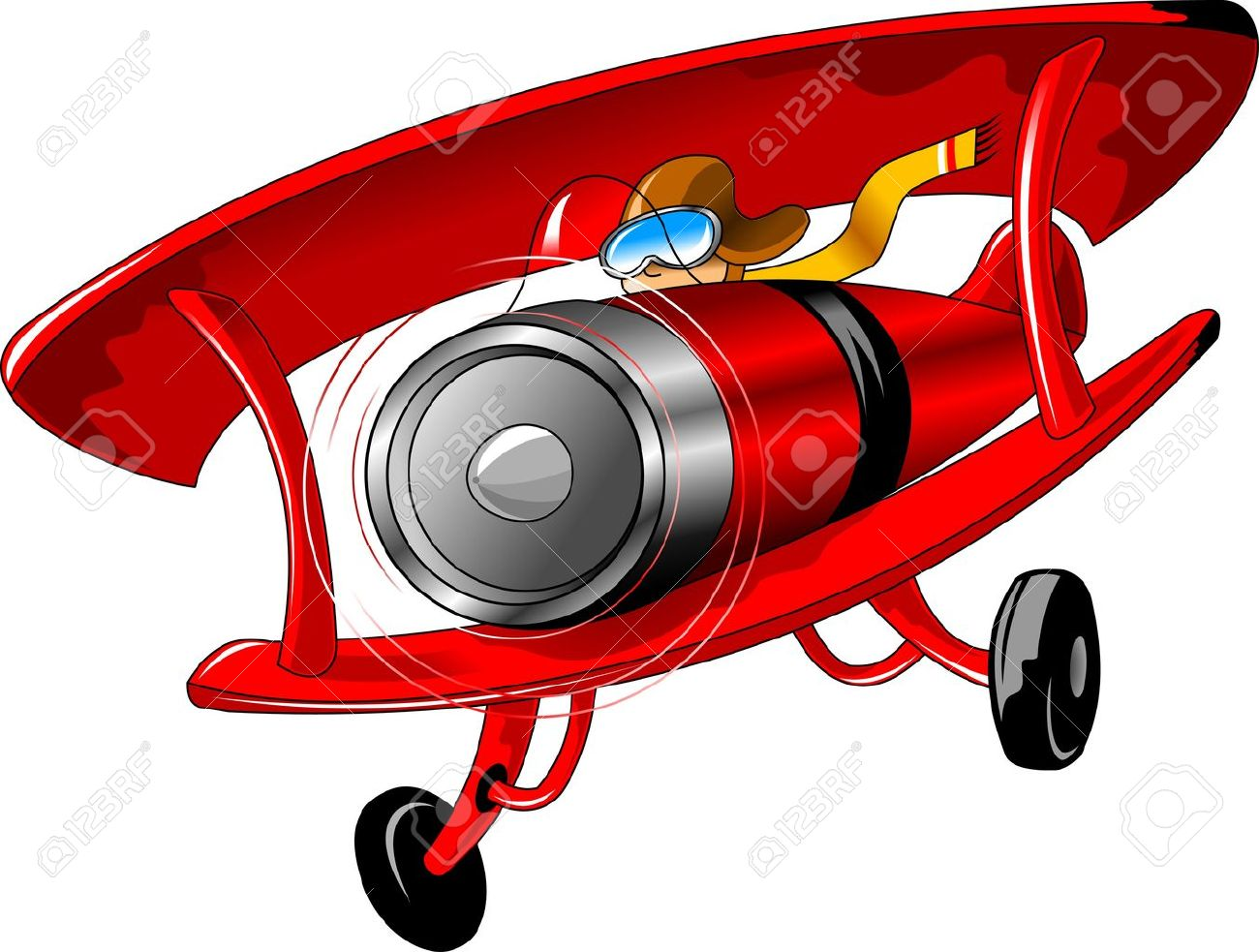 1300x983 Pilot Clipart Red Vintage Airplane