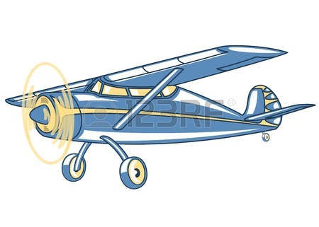 450x321 Plane Drawing On White Background. Illustration Clip Art Royalty