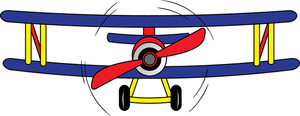 300x116 Vintage Airplane Clipart Free