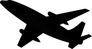 300x159 Airplane Clipart Image Travel Icon Airplane Silhouette Image