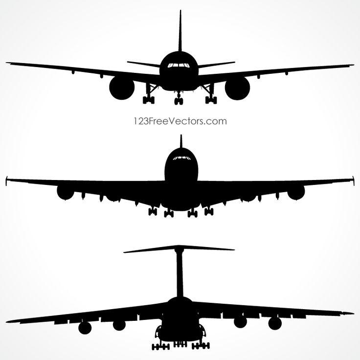 736x736 Best Airplane Silhouette Ideas Silhouette