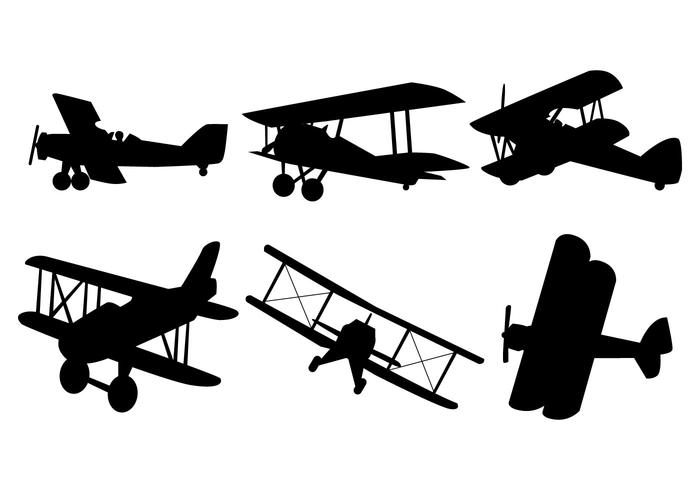 700x490 Biplane Vector
