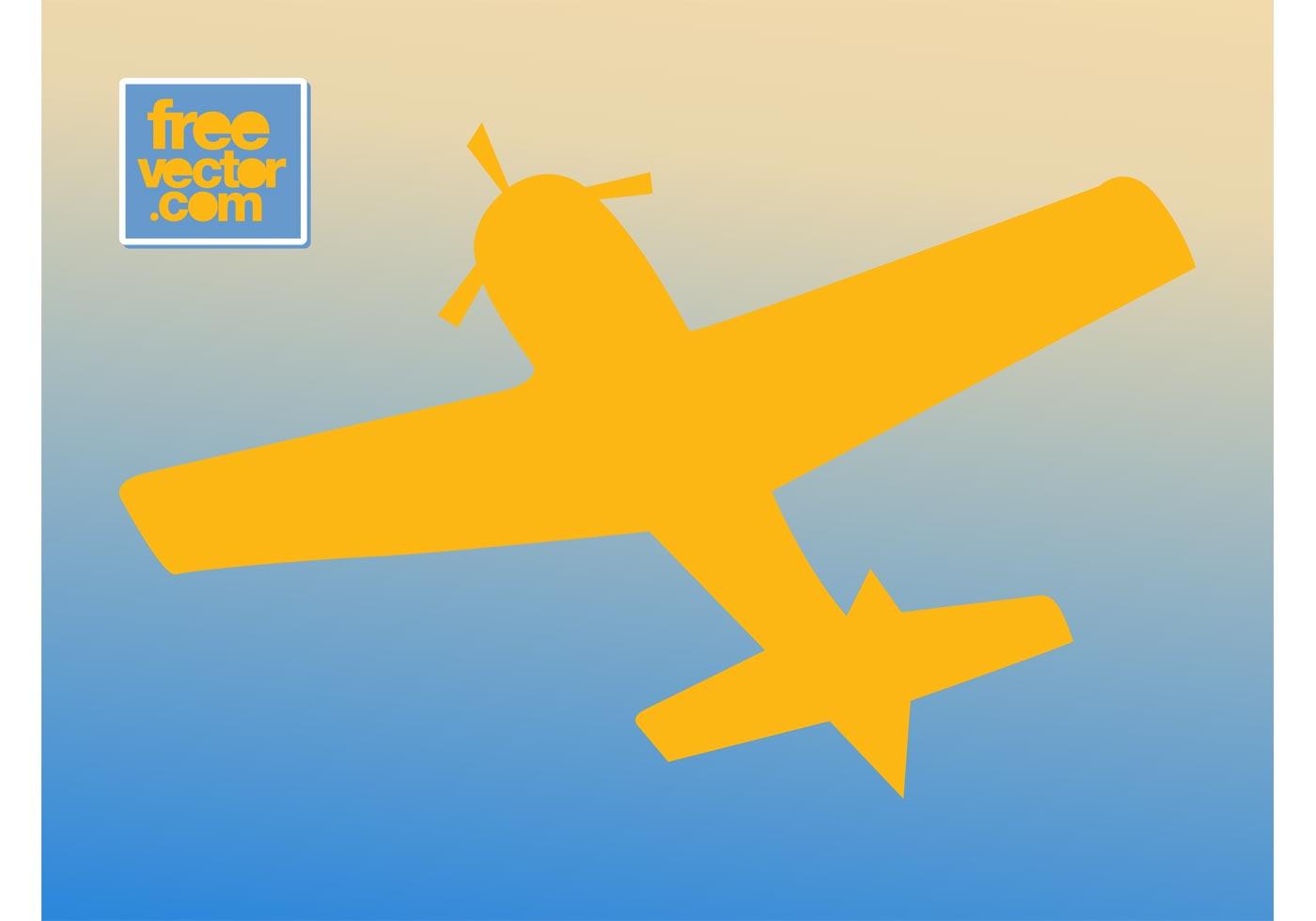 1400x980 Retro Airplane Silhouette