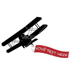 236x248 Silhouette Vintage Plane Airplane Silhouette With Banners