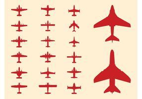 286x200 Aircraft Silhouette Set