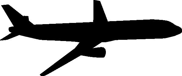 600x252 Airplane Silhouette Clip Art