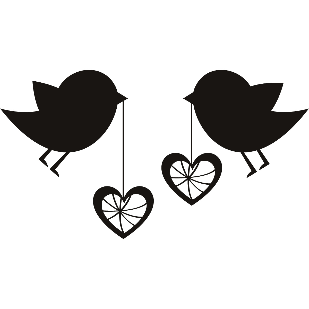 1200x1200 Love Birds Clipart