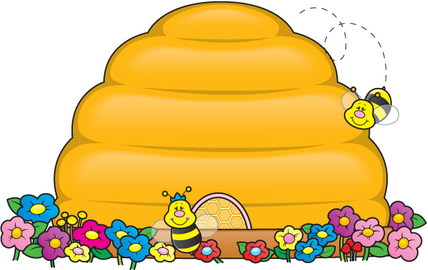 617x390 Beehive Clipart