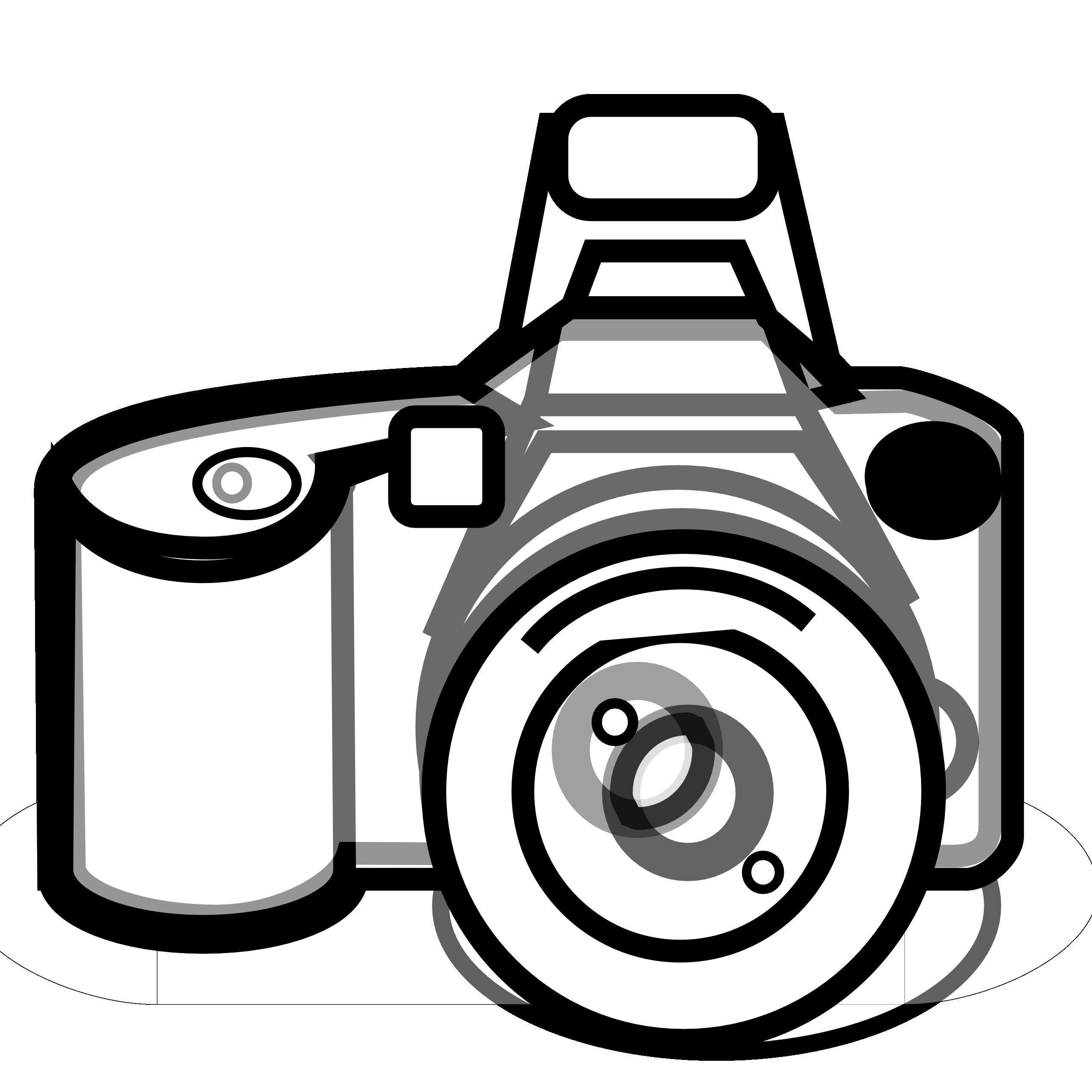 2555x2555 Monochrome Clipart Camera