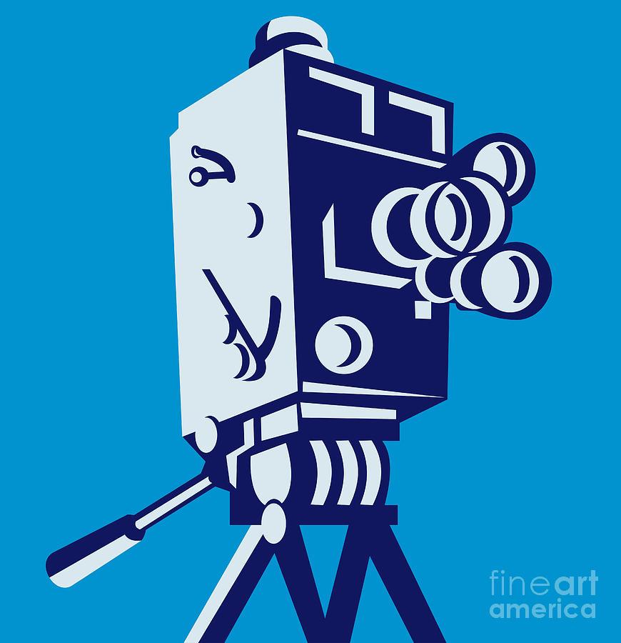 870x900 Movie Camera Vintage Film Camera Clipart Clipartfest 4