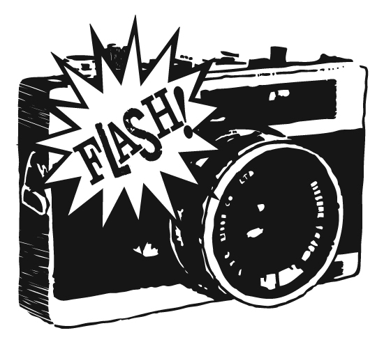 550x491 Vintage Camera Flash Clipart
