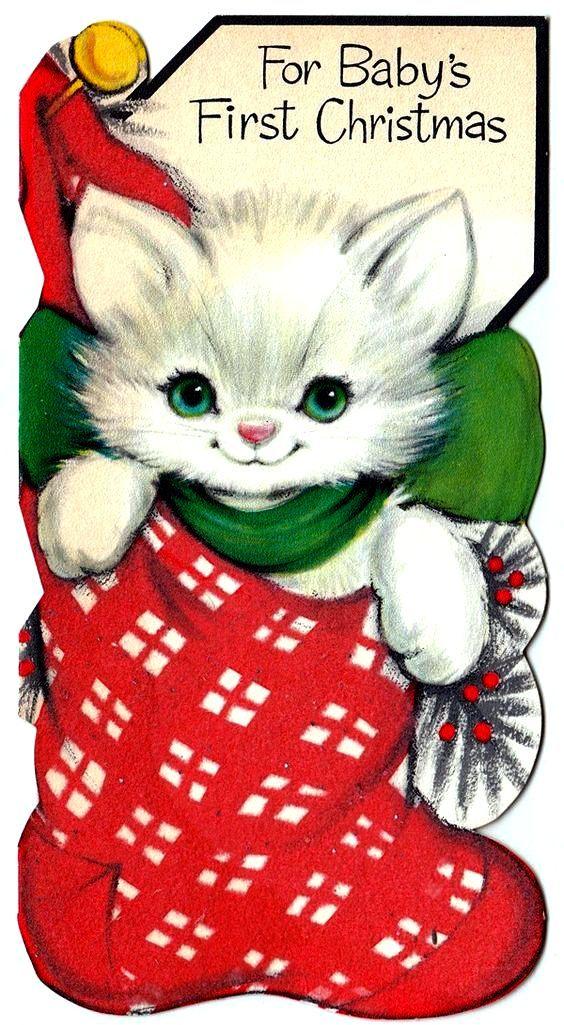 Vintage Cat Clipart