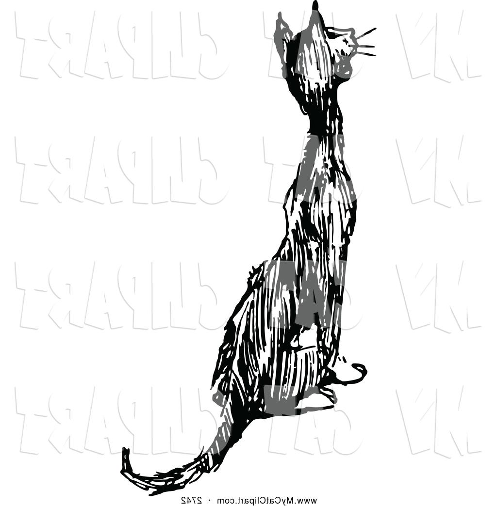 1024x1044 Best 15 Clip Art Of Black And White Cat Meowing Sitting By Prawny