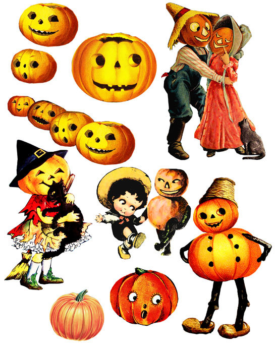 545x700 Clipart Halloween Vintage