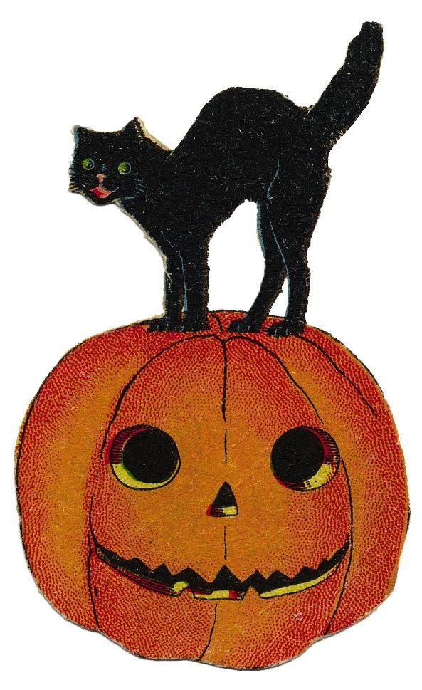 593x969 Halloween Vintage Clip Art
