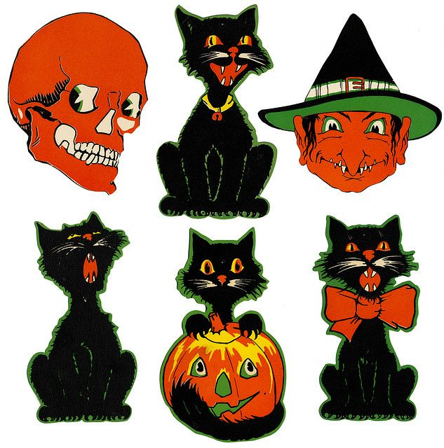 633x640 321 Best Halloween Vintage Images Drawing, Cards