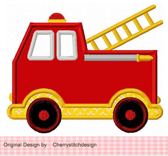 Vintage Fire Truck Clipart