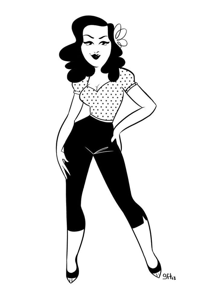 Vintage Girl Drawing