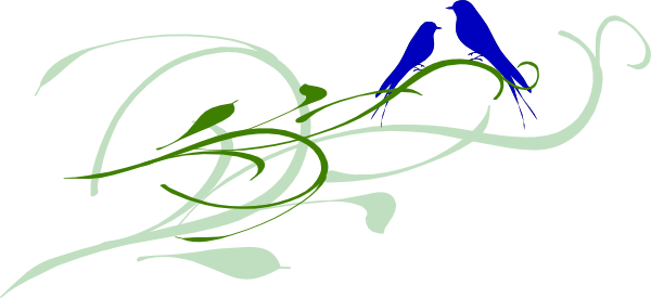 600x275 Kj Blue Love Birds Clip Art