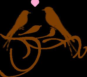 298x264 Love Birds Clip Art