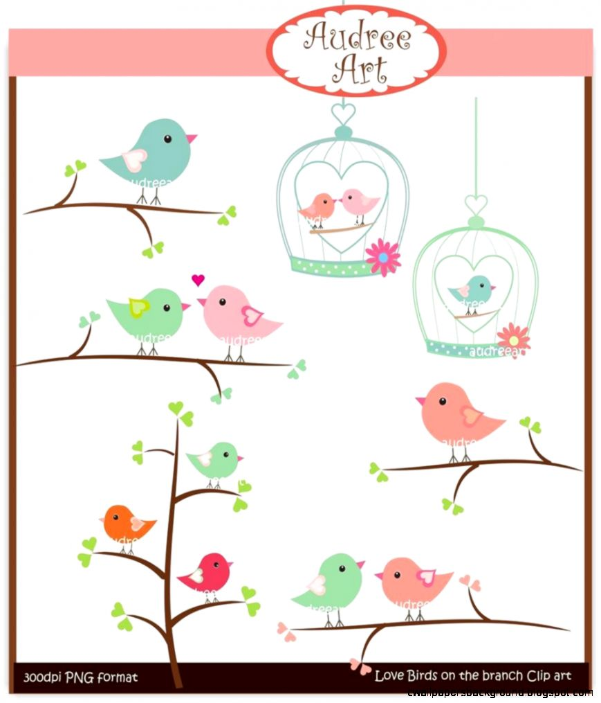 869x1015 Vintage Love Bird Clipart Wallpapers Background