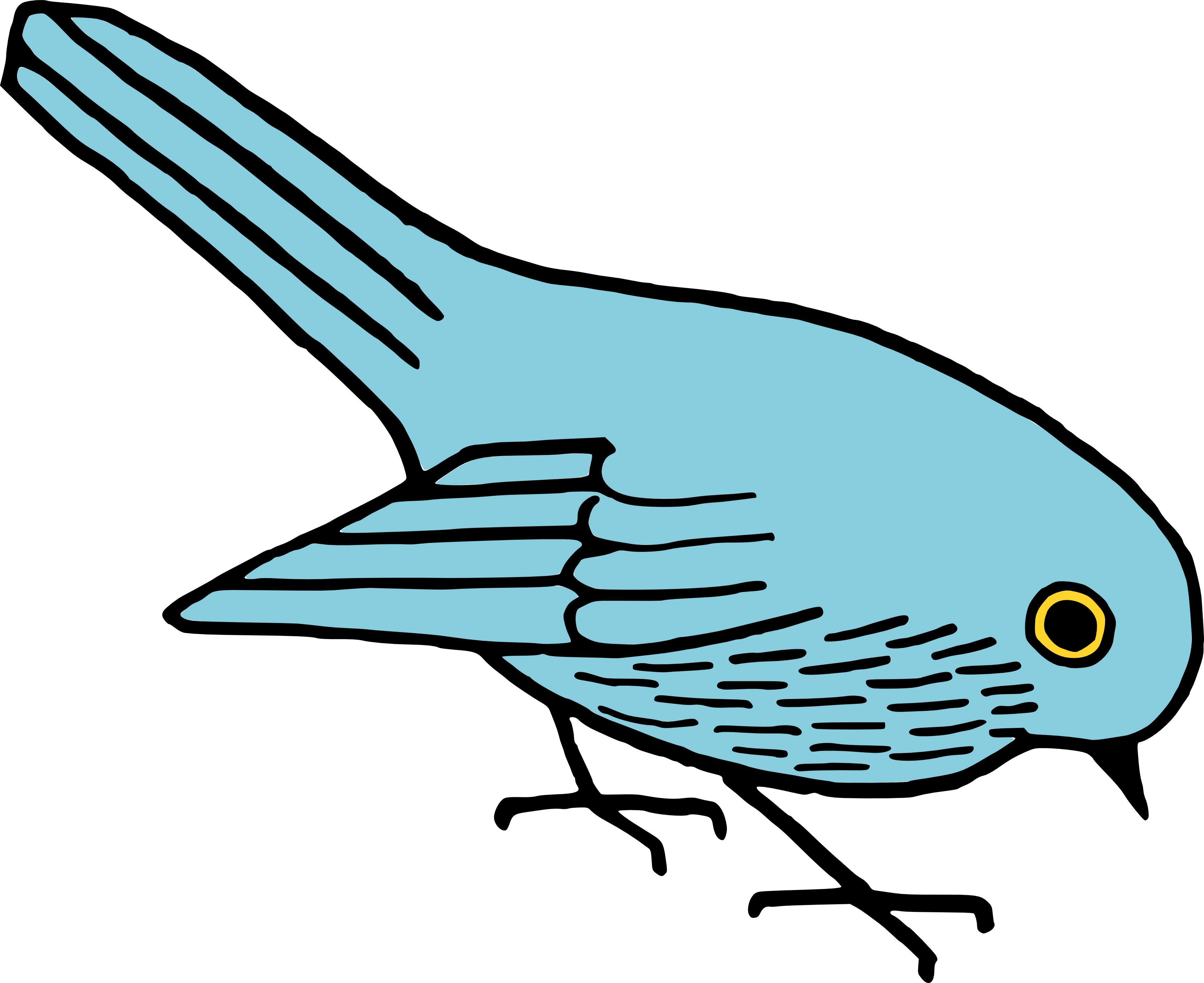 3455x2821 Free Blue Bird Clipart