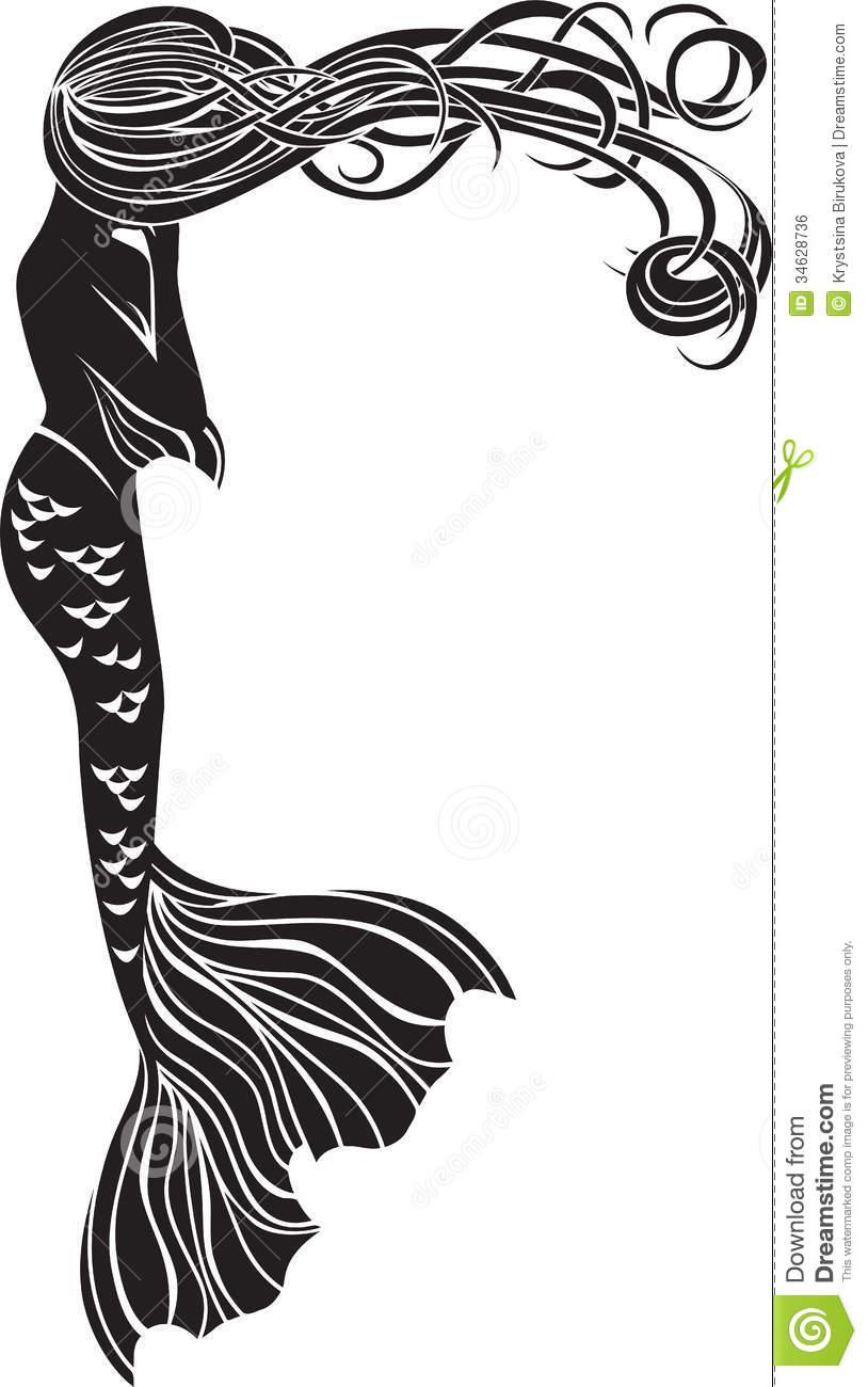 814x1300 Mermaid Clipart Art Deco