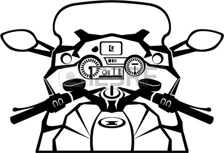 450x307 Dude On The Vintage Motorcycle Vector Illustration Clip Art