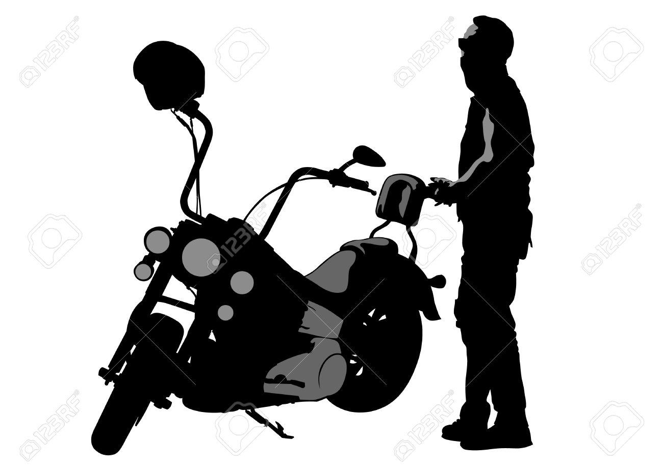 Vintage Motorcycle Clipart | Free download best Vintage ...