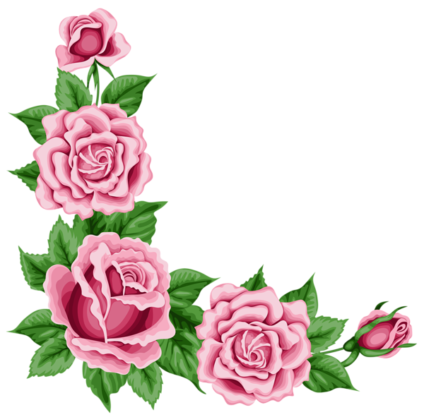 600x591 Roses Corner Decoration Png Clipart Picture Roses