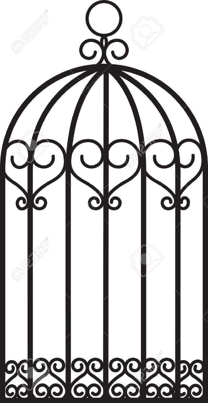 671x1300 Birdcage Clipart Caged Bird