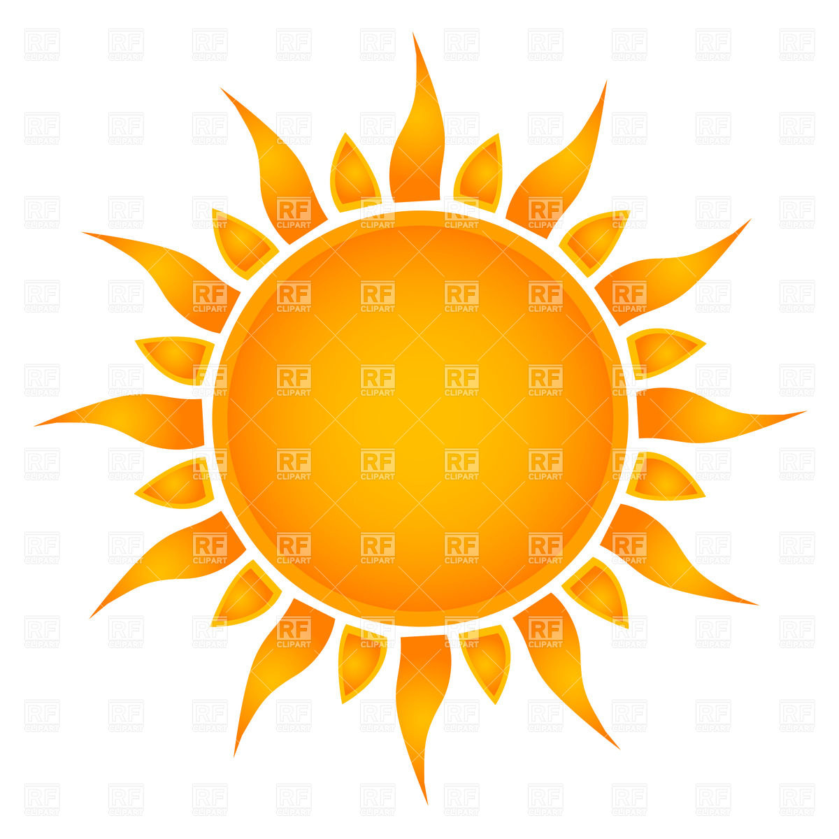 1200x1200 Simple Sun Royalty Free Vector Clip Art Image