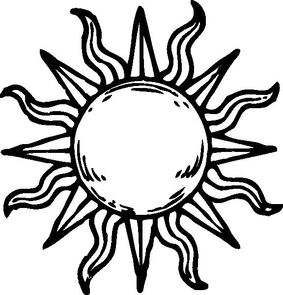 576x600 Sun Clipart Medieval