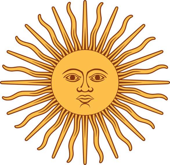 586x569 Sun Clipart Retro