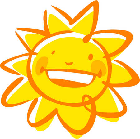 450x448 Colorful Sun Clipart