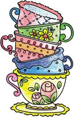 Vintage Tea Cup Clipart