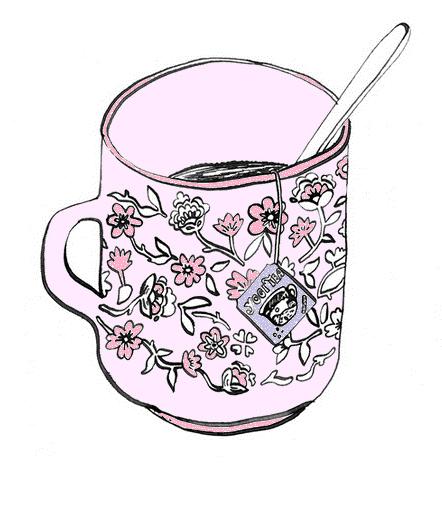 Vintage Teacup Drawing