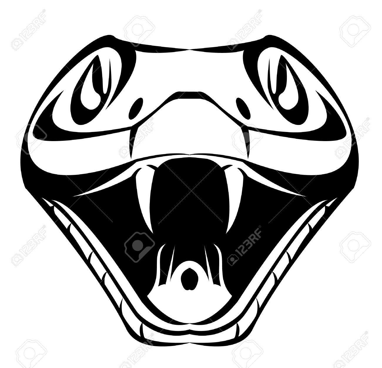 1300x1252 Drawn Cobra Viper Snake Head