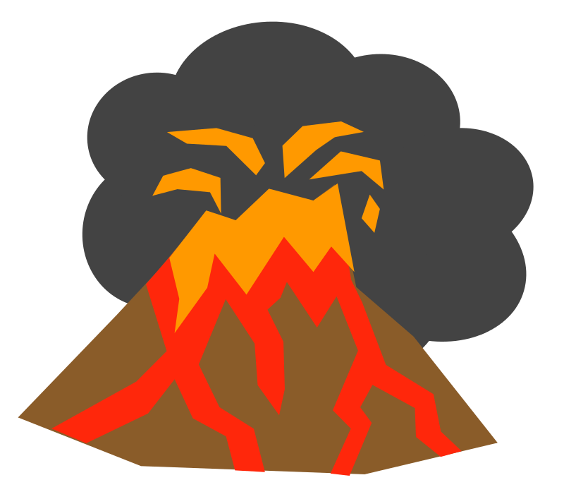 800x714 Free Volcano Clipart