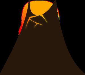 299x264 Simple Volcano Clip Art