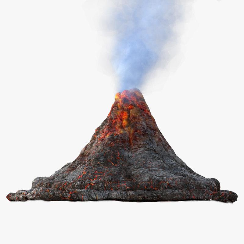 800x800 Volcano 3d Models For Download Turbosquid