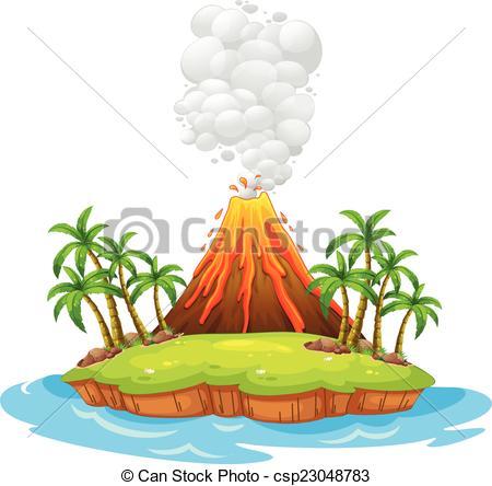 450x444 Volcano Area Clipart