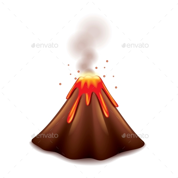 590x590 Animated Volcano Clipart
