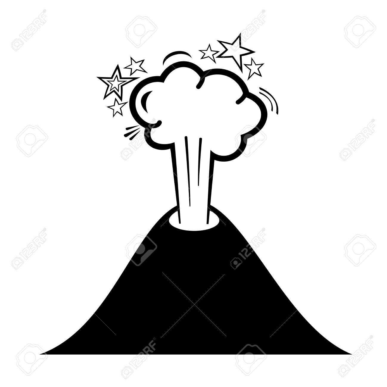 1299x1300 Drawn Volcano Animated
