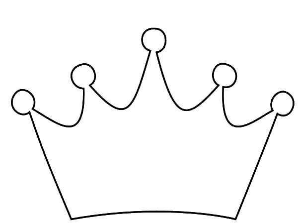 600x450 King Crown Clipart Black And White