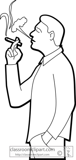 263x550 Smoking Clipart Black And White
